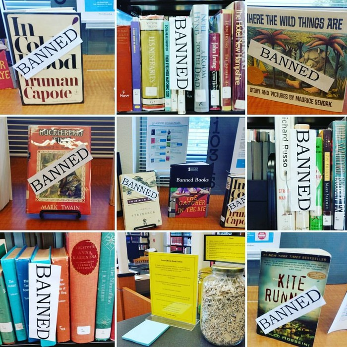 Banned Books Week Collage
