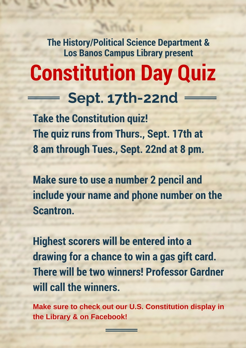 Constitution Day Quiz