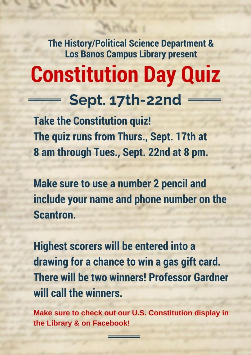 Constitution Day Quiz