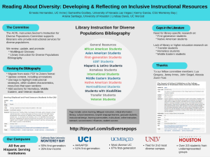 Instruction for Diverse Populations Bibliography Poster