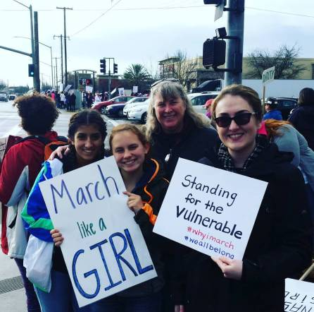 March like a girl and standing for the vulnerable.