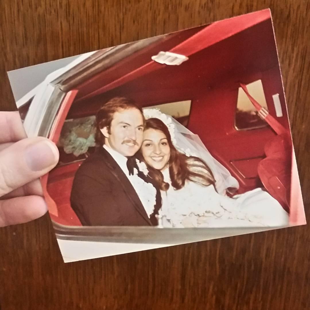 Parents' wedding photo