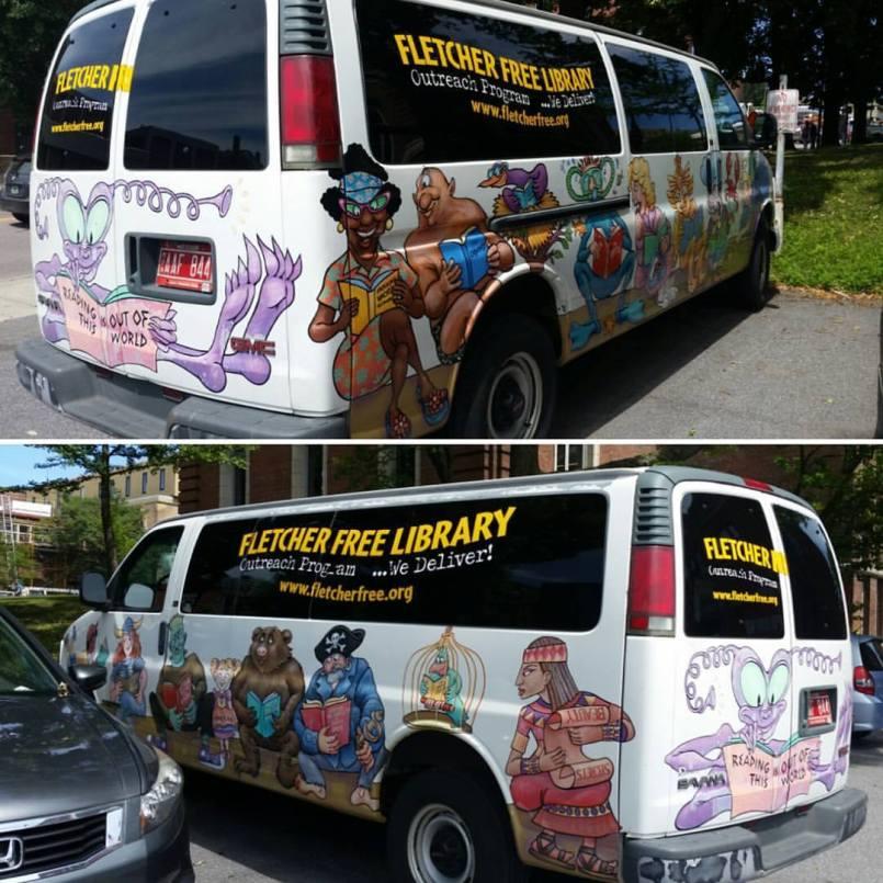 Fletcher Free Library van