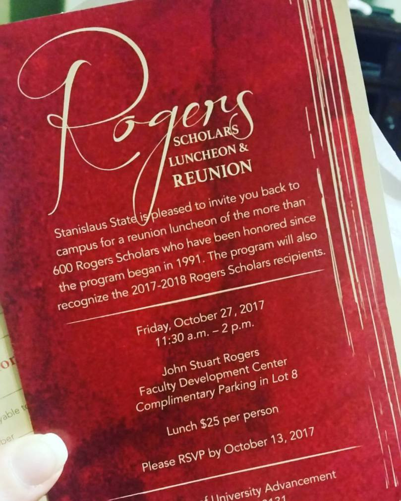 Rogers Scholars Luncheon & Reunion invitation